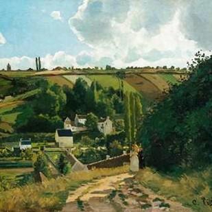 Jalais, Hill, Pontoise Digital Print by Pissarro, Camille,Impressionism