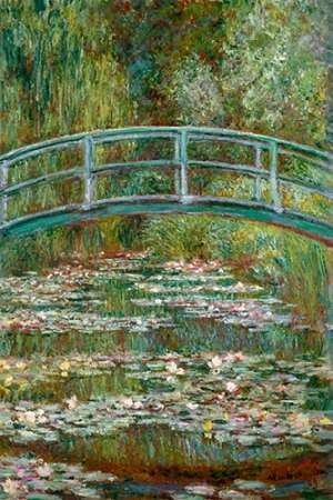 Bridge over a Pond of Water Lilies Digital Print by Monet, Claude O.,Impressionism
