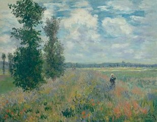Poppy Fields near Argenteuil Digital Print by Monet, Claude O.,Impressionism