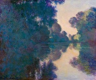 Morning on the Seine near Giverny Digital Print by Monet, Claude O.,Impressionism