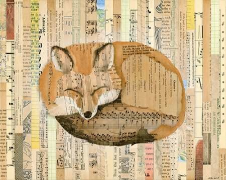 Red Fox Collage Iii By Galapon, Nikki