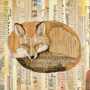 Red Fox Collage III Digital Print by Galapon, Nikki,Expressionism