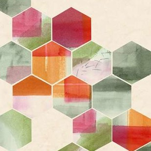 Color Pop Honeycomb I Digital Print by Popp, Grace,Geometrical