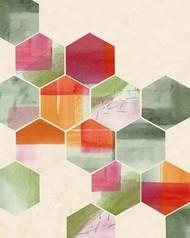 Color Pop Honeycomb I Digital Print by Popp, Grace,Geometrical