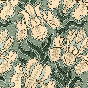 Nouveau Textile Motif II Digital Print by Vision Studio,Decorative