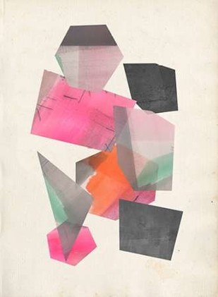 Collaged Shapes II Digital Print by Goldberger, Jennifer,Geometrical