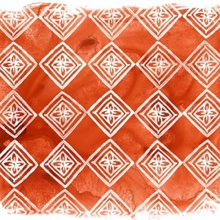 Crimson Motif I Digital Print by Vess, June Erica,Geometrical