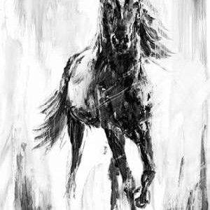 Rustic Stallion I Digital Print by Harper, Ethan,Illustration