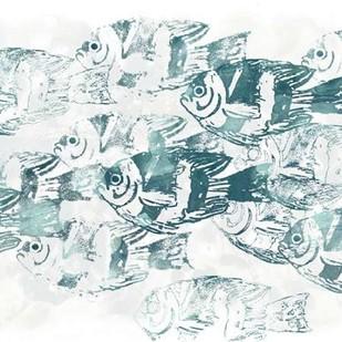 Sealife Batik III Digital Print by Vess, June Erica,Impressionism