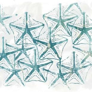 Sealife Batik V Digital Print by Vess, June Erica,Impressionism