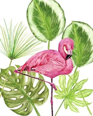 Tropical Flamingo II Digital Print by Wang, Melissa,Impressionism