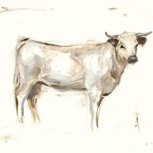 White Cattle I Digital Print by Harper, Ethan,Illustration