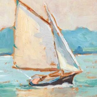 Contemporary Yacht II Digital Print by Harper, Ethan,Impressionism