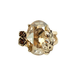 Autumn Ring in Swarovski Crystals by Nine Vice, Art Jewellery, Contemporary Ring