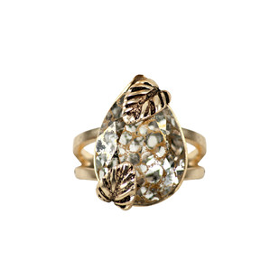 Autumn Ring in Swarovski Crystals by Nine Vice, Art Jewellery Ring