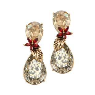 Autumn Earrings in Swarovski Crystals by Nine Vice, Art Jewellery Earring