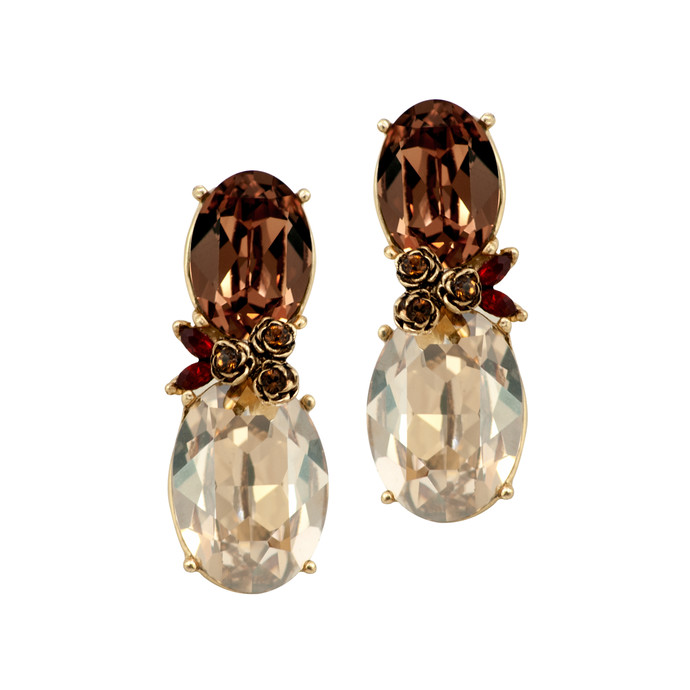 Autumn Earrings in Swarovski Crystals by Nine Vice, Art Jewellery Earring