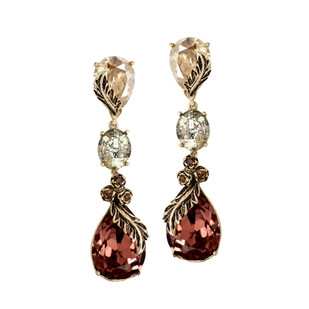 Autumn Earrings in Swarovski Crystals by Nine Vice, Contemporary Earring