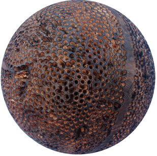 Dot by Vijay Pichumani, Abstract Sculpture   3D, Wood, Brown color