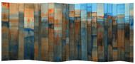 changing seasons by Sujith Kumar Sree Kandan, Geometrical Painting, Mixed Media on Wood, Brown color