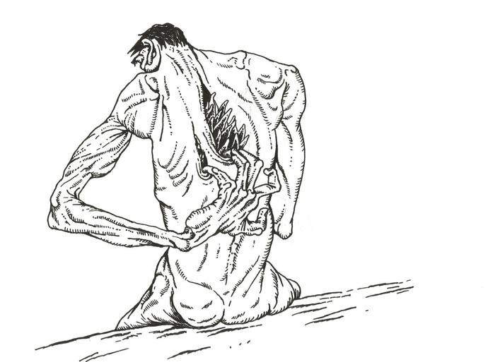 untitled by Nitin Kushwaha, Illustration Drawing, Ink on Paper, White color
