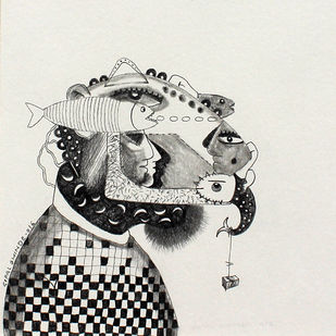 Ambiguity-05 by Gopal Shinde, Illustration Drawing, Pencil on Paper, Gray color