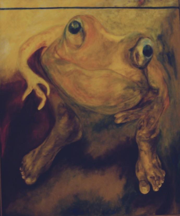 Metamorphosis by Manu Singh, Expressionism Painting, Oil on Canvas, Brown color