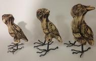 Siblings by Christina Banerjee, Art Deco Sculpture | 3D, Mixed Media, Brown color