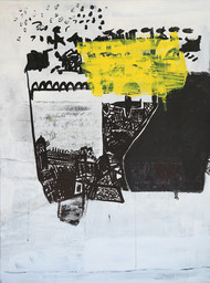 emotions and responses1 by Aditya Sagar, Abstract Painting, Acrylic & Ink on Canvas, Gray color
