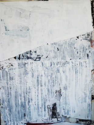 emotions and responses 2 by Aditya Sagar, Abstract Painting, Mixed Media on Canvas, Gray color