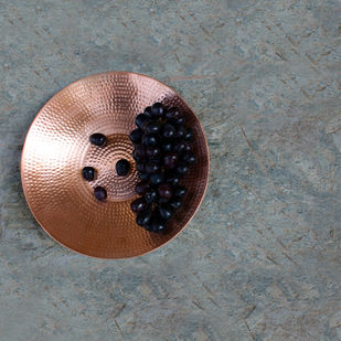 Copper Fruit Platter Platter By De Kulture Works