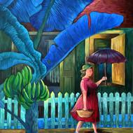 Lady with umbrella %28full image%29