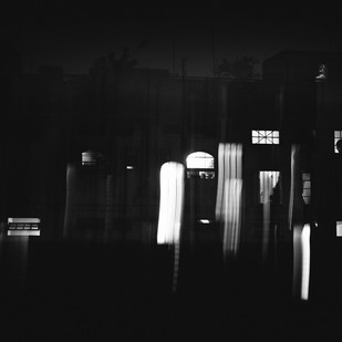Windows by Subhajit Dutta, Image Photography, Digital Print on Paper, Black color