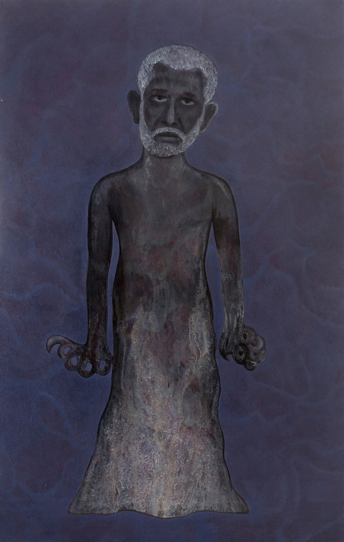 Untitled by rahul vajale, Expressionism Painting, Acrylic on Canvas, Blue color