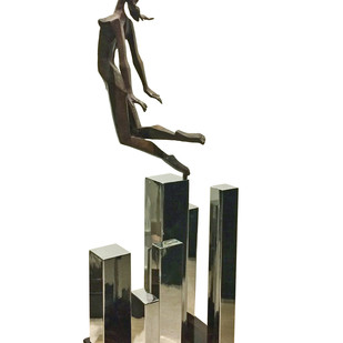 The Hungry Heart by Shashi Paul, Art Deco Sculpture | 3D, Bronze, White color