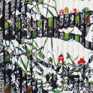 UNTITLED by Vinita Dasgupta, Expressionism Printmaking, Mixed Media on Board, Gray color