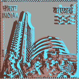 Uploads 55 CBSE Stamp by Niraja Bhuwal, Pop Art Painting, Acrylic on Canvas, Gray color