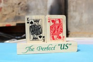 IVEI Poker themed King and Queen wooden showpiece Accessories By i-value-every-idea