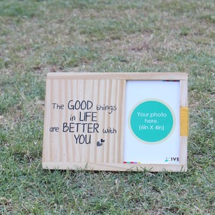 IVEI Wooden table and wall photoframe - Good things Photo Frame By i-value-every-idea