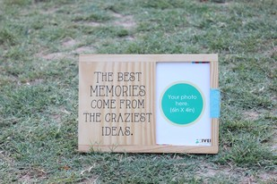 IVEI Wooden table and wall photoframe - Memories Photo Frame By i-value-every-idea