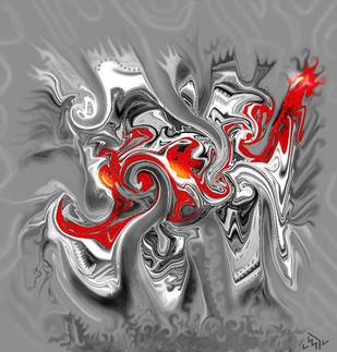 THE PAIN Digital Print by Pradip Sarkar,Digital