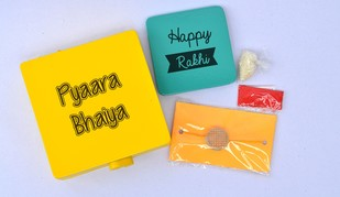 Rakhi box with rakhi for brother Decorative Container By i-value-every-idea