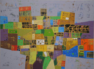 City Series 04 by S A Vimalanathan, Geometrical Painting, Acrylic on Canvas, Brown color