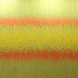 Videh-7 by SATISH BHAISARE, Abstract Painting, Acrylic on Canvas, Beige color
