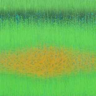 Untitled-3 by SATISH BHAISARE, Abstract Painting, Acrylic on Canvas, Green color