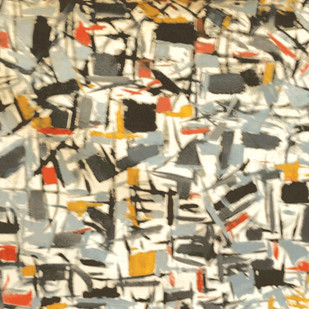 Sinous Maze by Suresh Pushpangathan, Expressionism Painting, Acrylic on Canvas, Beige color