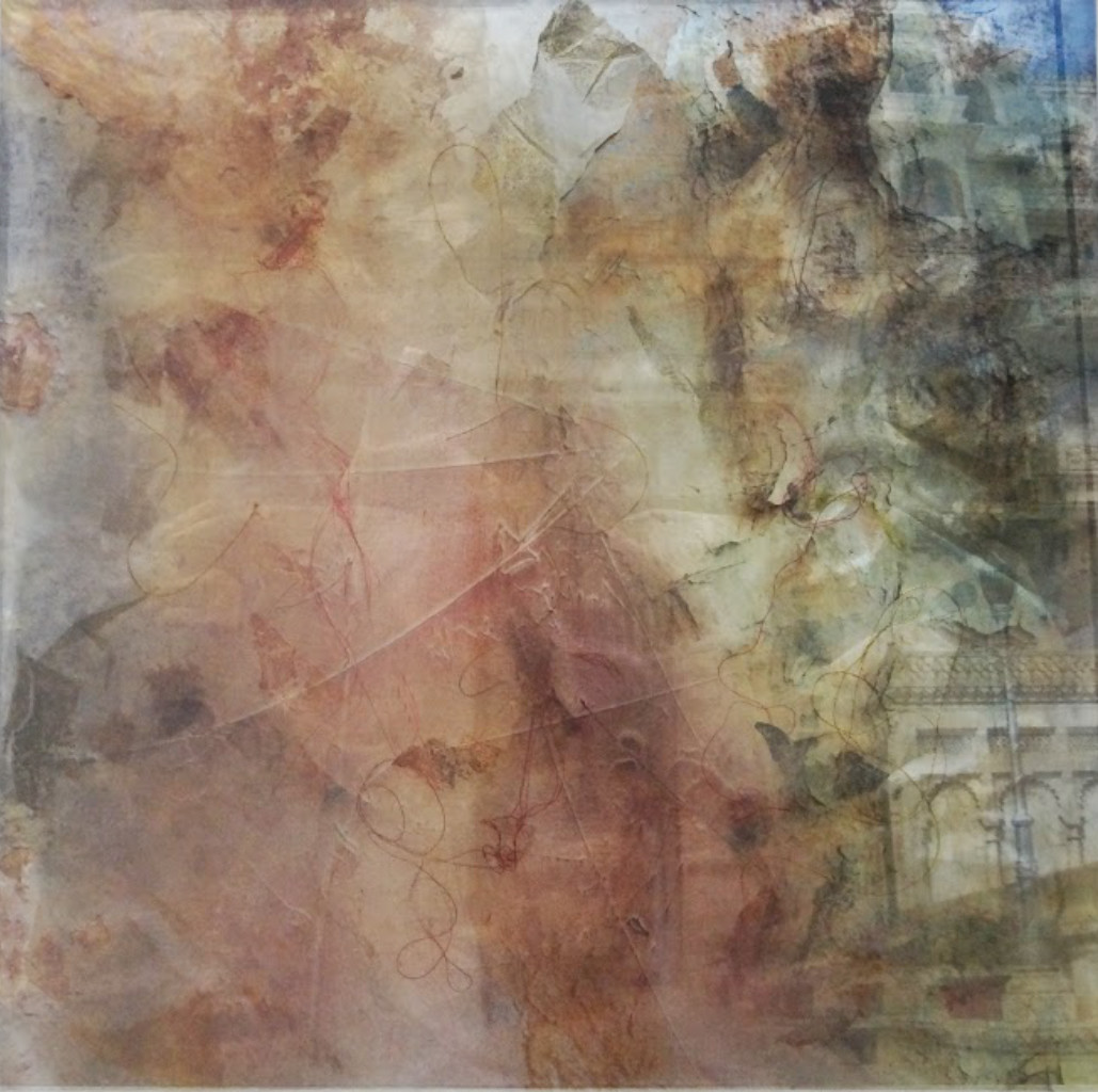 Illusion Series C2 by Sachin Deo, Abstract Textile, Mixed Media, Brown color