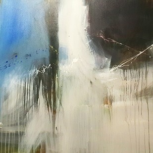 space (series) by Gulrez Ali, Abstract Painting, Acrylic on Canvas, Beige color