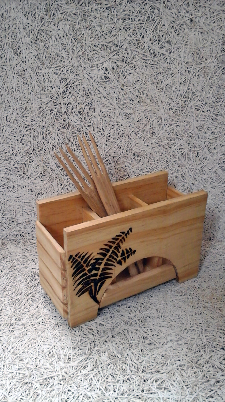 Burnt Fern Cutlery Stand Kitchen Ware By E'thaan Design Studio