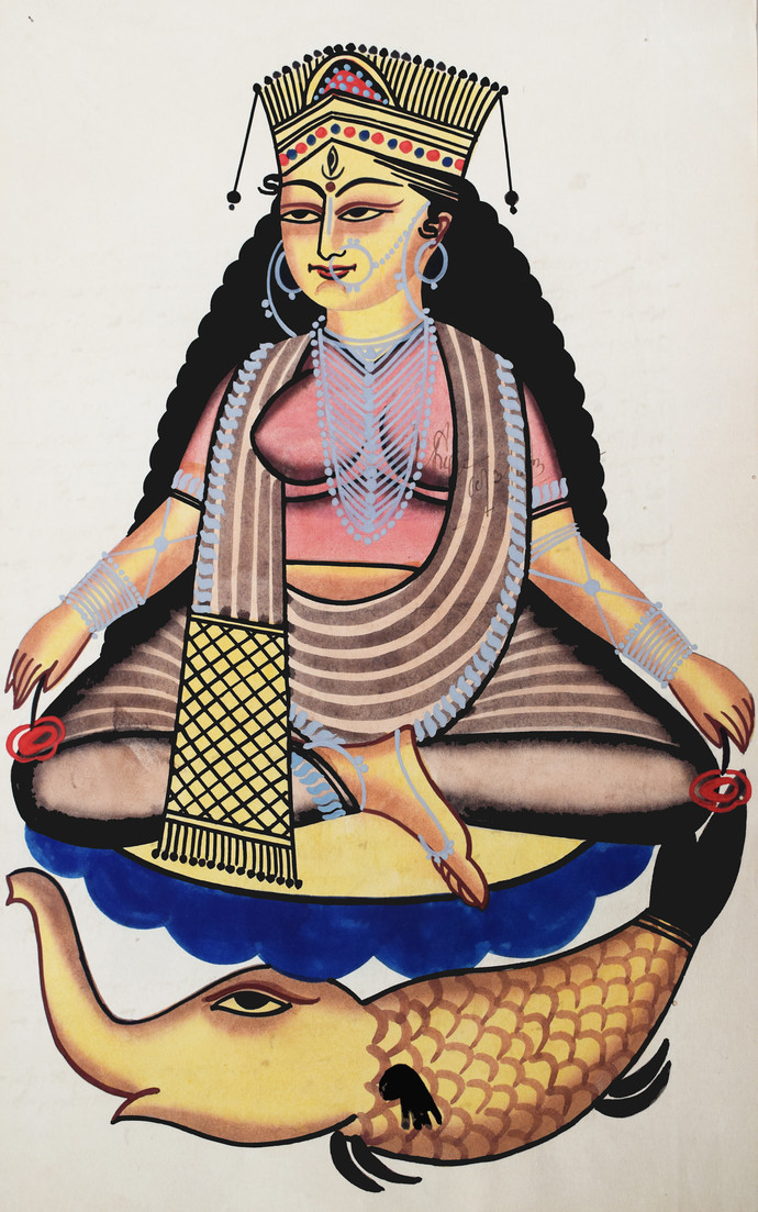 Kalighat Painting By Unknown Artist